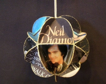 Neil Diamond Album Cover Ornament Made Of Record Jackets