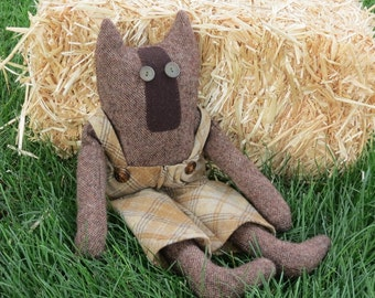 Peyton Puddy Cat Wool Cat Doll Handmade Cat Doll