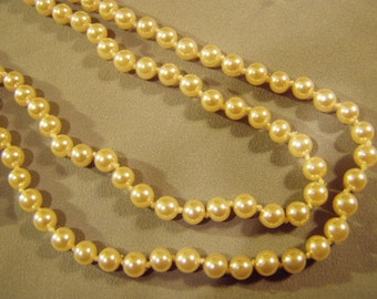 Vintage Mayorca Pearl Necklace 30 Inches Man Made Pearls 8809