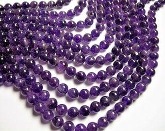 Amethyst - 10 mm round - 1 full strand - 38 beads - RFG940