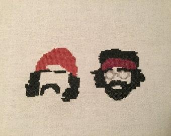 Cheech and Chong cross stitch pattern