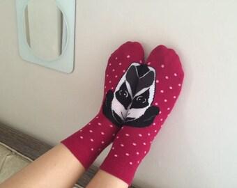 DOG Socks,Women Socks,Boot Socks,Ankle Socks,Red Socks