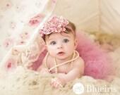 Mauve Baby Tutu Set, Birthday Tutu, Headband, Baby Girl Tutu, Tulle Skirt, Toddler Tutu, Dusty Rose, Pink Tutus, Newborn Tutu, Infant Tutu