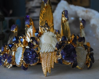 UNICORNS REVERIE CROWN /// 24kt Gold Electroformed Crown