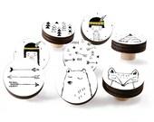Kids Drawer Knobs - Kids Drawer Pulls - Kids Knobs - Kids Pulls - Kids Room Dresser - Childrens Drawer Knobs - Childrens Pulls - Set Of 8
