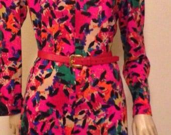 Vintage Print Day Dress Designed  by Eva for Robert Jana