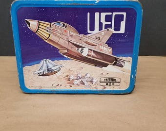 Vintage UFO Metal Lunchbox with Thermos