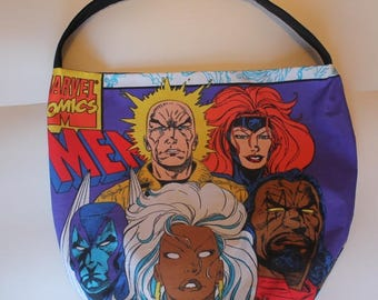 Superhero Comics Purse - Shoulder Bag Style - Upcycled made from vintage fabric