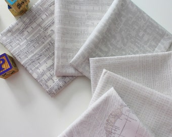 Compositions mini bundle from the Compositions fabric collection by Basic Grey for Moda (6 fat quarters)