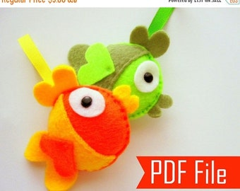20%OFF Fish Sewing Pattern, Felt Fish - PDF Sewing Pattern Felt Fish Ornament  Instant Download A199