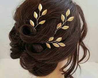 Gold Bridal Hair Vine, Gold Leaf Hair Comb, Gold Hair Vine, Leaf Bridal Comb, Bridal Hairpiece, Wedding Hair piece, Gold Leaf Hair Vine