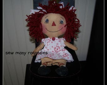 PriMiTiVe RaGGeDy AnN DoLL ~ MoTHer'S DaY ~ SewManyRaggedies