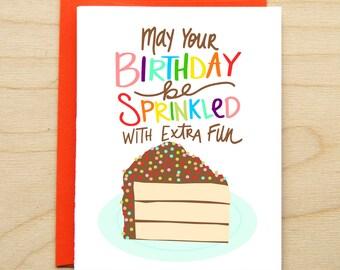 Sprinkled - Happy Birthday Card