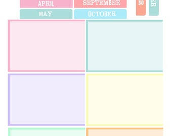 EC Teacher Planner - Holidays and dates to remember Pastel  (Digital)