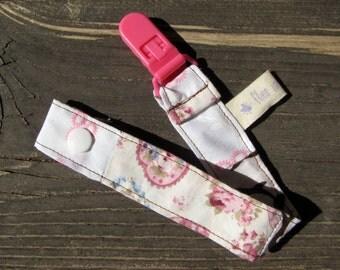 newborn girl, girl pacifier clip, baby clip, pink nursery, pacifier clip, patchwork gift, dummy clip, pacifier holder, baby pacifier clip,