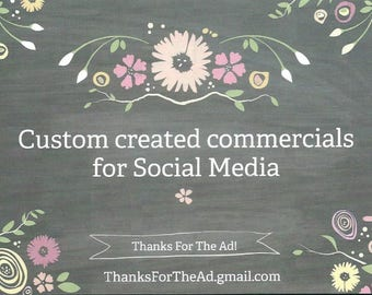 Custom crafted Ad to showcase and sell your work on Social Media