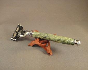 Gillette Mach3 Razor - Box Elder Burl Wood