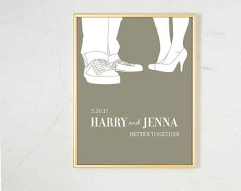 Personalized Wedding Gifts for Couple, gift for husband, personalized portrait, unique wedding gift, gift for boyfriend, gift for bride