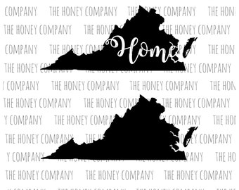 virginia svg png dxf state home outline instant download silhouette cricut cut files cutting machine string