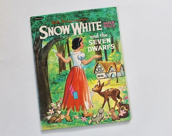 Vintage 1960's Disney Snow White Paper Doll Set by Whitman- Unused!