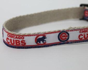 Chicago Cubs hemp dog collar or leash