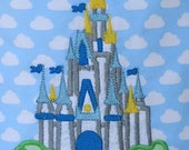 Ready to Ship RTS Boutique Custom Cinderellas Castle embroidery Applique Patch DIY 5x7 iron on