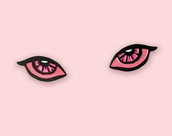 Pink Blink enamel pin set