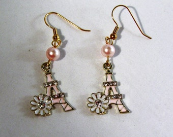 Flowers by the Eiffel Tower Earrings
