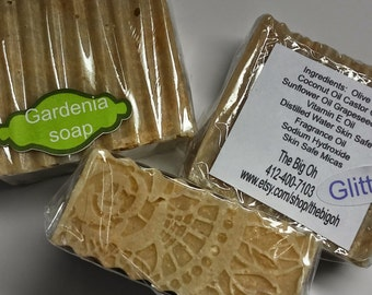 Lace top Gardenia handmade soap