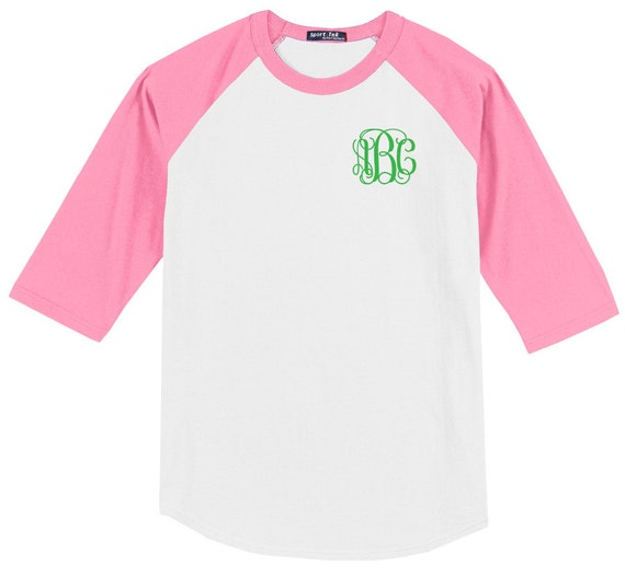 Items similar to monogrammed raglan shirt personalized for Custom raglan baseball shirt