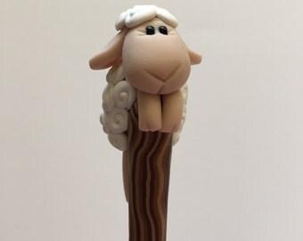 Little White Sheep Crochet Hook H