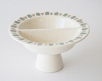 Vintage Metlox Poppytrail Navajo Mid Century Modern Pedestal Pottery