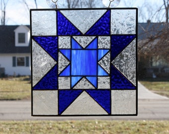Stained Glass Suncatcher Quilt Block Rising Star