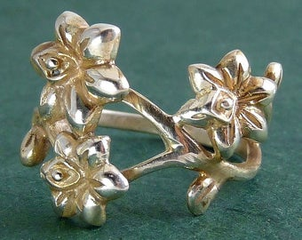 Sterling Silver Narcissus Daffodils Ring