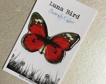 Butterfly Effect Brooch, Red (RB15) by Luna Bird for the 1200 Butterfly Wall at Butterfly Effect Exhibition