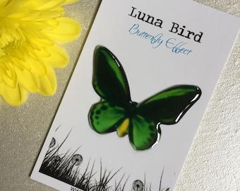 Butterfly Effect Brooch, Green (GB20) by Luna Bird for the 1200 Butterfly Wall at Butterfly Effect Exhibition