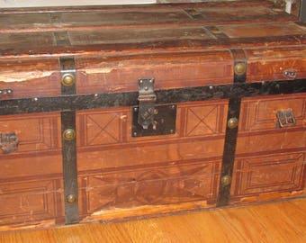 Civil War Era Trunk chest foot locker