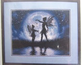 TWILIGHT SILHOUETTE KIT Counted Cross Stitch Kit Demensions 70-35296 Fairies Fairy Moon New in Package ~ Craft now for Gift Giving ~
