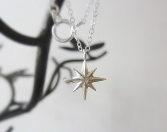 Northern Star Necklace-Tiny Star Necklace-Diamond Star Necklace-Small Gold Star Necklace-Star Charm Necklace-Gold Star Necklace-MomentusNY
