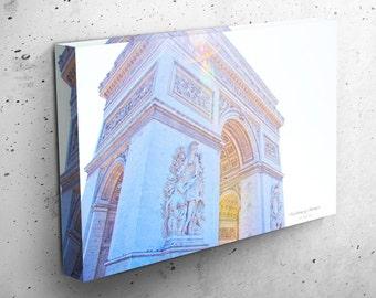 Paris France Photography, Arc DeTriomphe, Travel Icon, Gallery Wrap, Canvas Wrap, Paris canvas Wall Art Photo Home Decor Print, Parisian Art