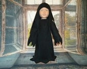Ghost Costume Halloween Black for 18 inch doll clothes american made boy girl doll spirit cap gown