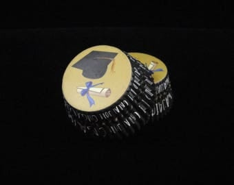 Graduation Cupcake Liners, Graduation Parties, Baking Cups, Muffin Papers, Cupcake Liners- Qty 25