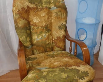 Nursery Glider Rocker SlipCover -Earthtone Brown Trees  Covers for your cushions