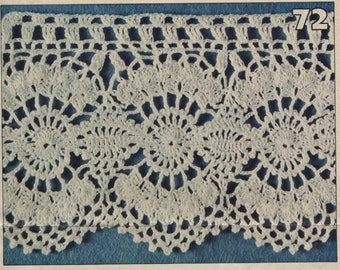 ITALIAN LANGUAGE Crocheted Doilies Instructions - Excerpt from Magazine