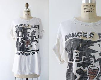 New York T Shirt • Keith Haring Shirt • 80s T Shirt • Destroyed T Shirt • New York Shirt • Graphic Tee | T836
