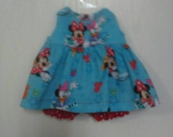 """Baby Alive  And Waldorf Doll Clothes Adorable Dress 10"""" 12"""" Or 15"""" Minnie Mouse"""