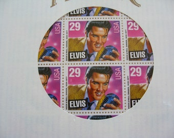 40 ELVIS Original Commemorative Stamps in Sealed Saver Sleeve Full Sheet Mint Set 1993