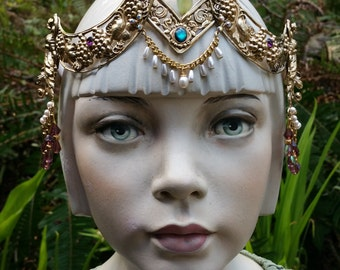 Butterfly Crown Circlet Elaborate Headpiece