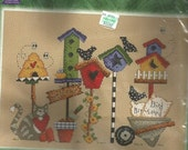"""Janlynn Counted Cross Stitch Kit """"Birdhouse Welcome"""""""