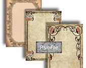 Digital, ACEO Size, Printable, Instant Downloads, Labels, Art & Trade Cards, Antique Border Designs, Jewelry Holders, 2 Sheets, ACEO 54